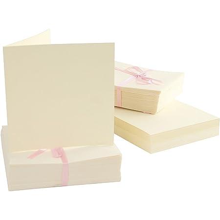 pack de 25 Docrafts 4 x 4 pouces 300 GSM Kraft cartes//enveloppes