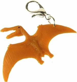 Los dinosaurios Pteranodon aretes Dino aviador Flugsaurier miniblings goma cognac