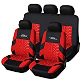 AUTOYOUTH Full Set Seat Covers for Cars Universal Fit Car Seat Protectors Tire
