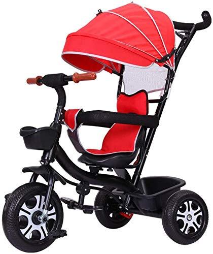 XYLUCKU Cochecito de bebé Bicicleta de niño 3 en 1 etapa Cochecito de paseo convertible Jogger Triciclo ligero para viajes de bebé, compras