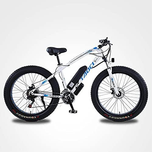 Pro10 Fat Electric Mountain Bike, 21 Speed E-Bike for...