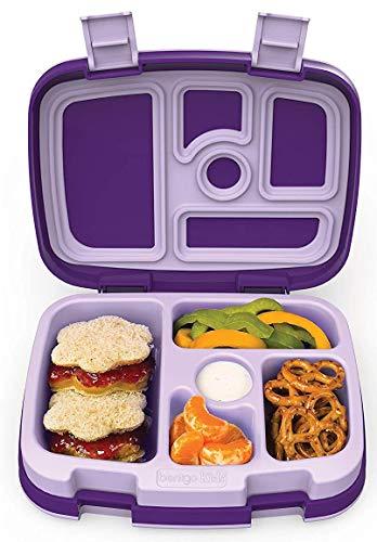 Bentgo Kids Prints – Auslaufsichere Kinder-Brotdose mit fünf Fächern im Bento-Stil – ideale Portionsgrößen für 3 bis 7 Jahre – schadstofffrei und lebensmittelecht
