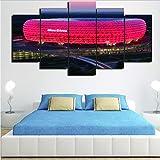 5 stück leinwand gemälde Bayern München Allianz Arena Gruppe HD raumdekor bild druckplakat wandkunst - 40cmX60cmX2 40cmX80cmX2 40cmX100cmX1