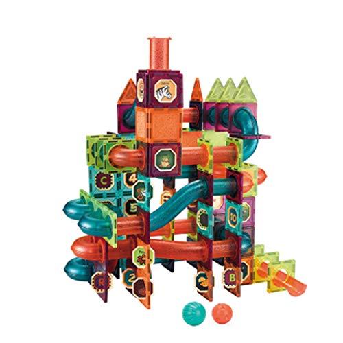 Magnetische labyrint kogelbaan blokmagneet trechter glijbaan kinderen DIY volgen bouwstenen kinderen educatief speelgoed geschenken