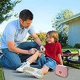 Deer Platz Medikament Tasche, Tragbare Mini Erste-Hilfe Sets, Leer Reiseapotheke Tasche, für Outdoor Sports Home Camping Wandern (Pink + Gray) - 5
