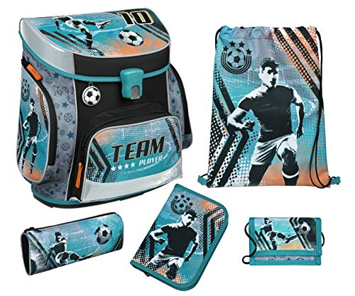 Football Schulranzen Set 5 teilig FCUP8253 Scooli Campus FIT Undercover Ranzen