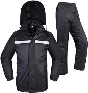 BGROESTWB Snow Rainwear Reflective Raincoat Outdoor Riding Double-layer Thickened Men And Women Reflective Jacket Split Ra...