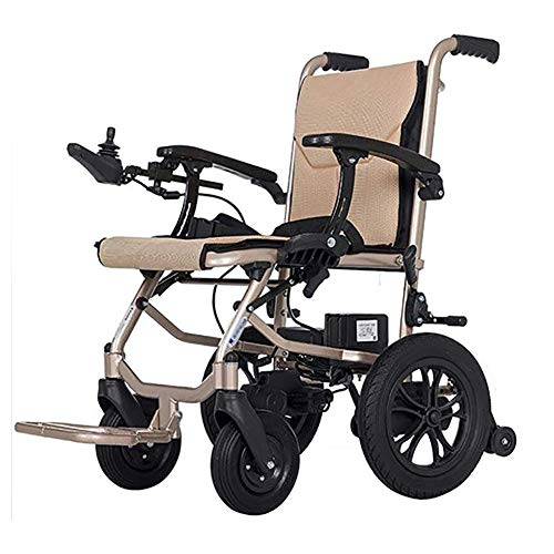Chair Silla De Ruedas Inteligente Silla De Ruedas Eléctrica Power Plegable Wheelchair Ligera De La Aleación De Aluminio Silla,conduzca con Potencia O Use como Silla De Ruedas Manual