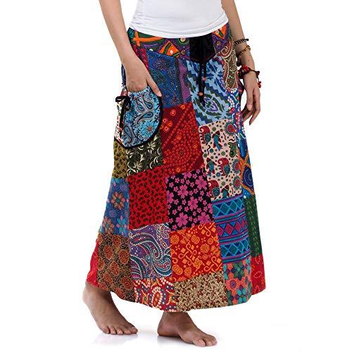 Langer Hippie Batik Patchwork Gypsy Zigeuner Rock