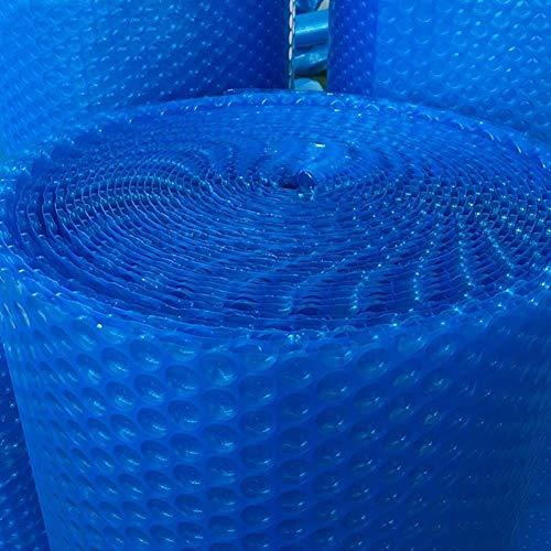 Blauwe zonnekap voor dekzeilen met rubberen pads waterbestendig isolatiestof Cover voor bubbels voor zwembad voor stadion/thermaal zwembad (Afmetingen: 2.7 × 5.5 m) 2.5×6.5m