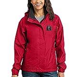 Cherrybrook Dog Breed Embroidered Ladies Rain Jackets - X-Large - Radish and Steel Gray - Irish Water Spaniel