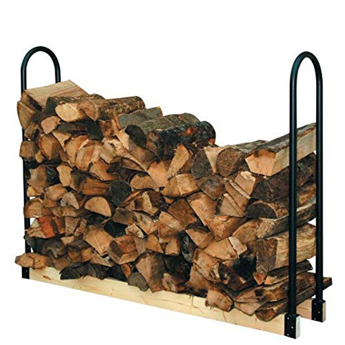 DGSD Adjustable Length Log Rack,Fireplace Log Holder Wrought Iron Indoor Fire Wood Stove Stacking Rack Logs Bin Firewood Storage Carrier for Outdoor Fireplace Pit