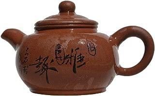 Teapot 9.4Oz Chinese Yixing Zisha Clay Sifangchuanlu Ceramics Pot Purple Sand Mud Kungfu Kettle Filter Loose Tea (purple)