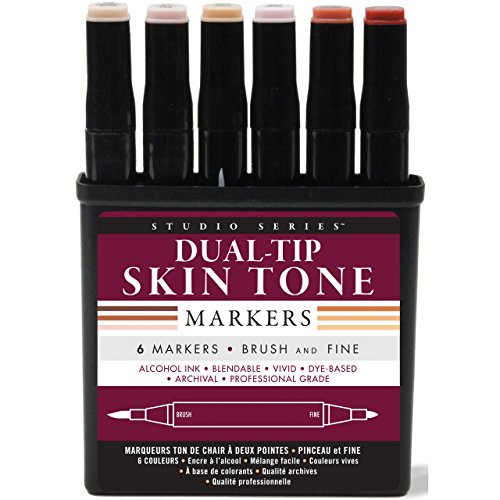 Studio Series Professional Alcohol Markers - Skin Tones - 6 Pack