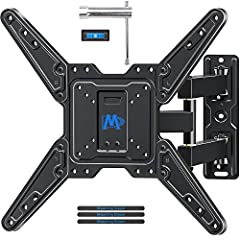 """TV MOUNT COMPATIBLITY: TV wall mount fits for most of 26-55"""" TVs up to 77 lbs, and fits VESA 75x75mm – 400x400mm mounting patterns. DESIGN PATENT & SPACE SAVING: TV bracket makes viewing more comfortable: tilts TV up 5° and down 15° to reduce glare, ..."""
