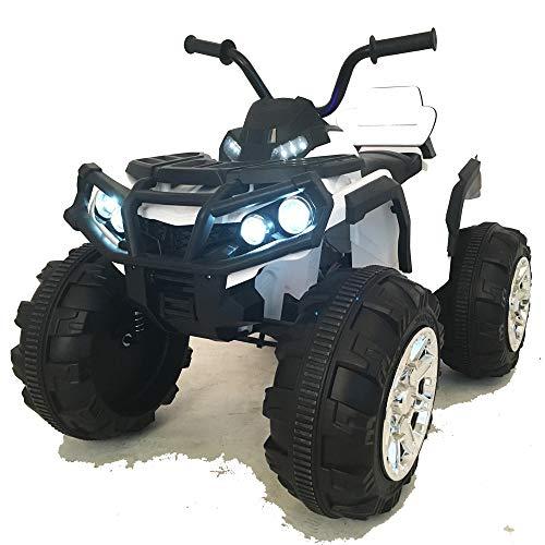 crooza 12 V pour Enfant Quad / ATV avec 2 Moteurs pour Enfants - Véhicule électrique avec télécommande - Véritable Radio FM / mp3 / USB / Lecteur SD / Suspension