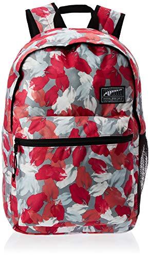 PUMA Unisex– Erwachsene Academy Backpack Rucksack, Bright Rose-Leaf AOP, OSFA