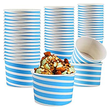 Typtop Ice Cream Sundae Cups - 50 8 oz Paper Disposable Dessert Bowls and Party Supplies Cups
