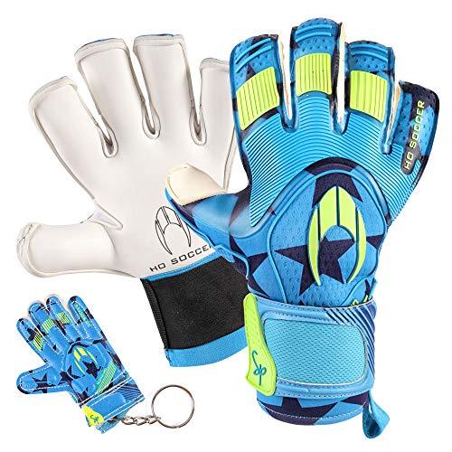HO Soccer Supremo Pro II Kontakt Special Torwarthandschuhe, Unisex Erwachsene 43 Blau/Lima