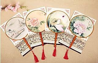 古典丸形団扇 踊り扇子団扇(うちわ)中国伝統古典宮 扇子