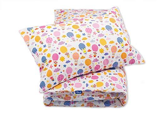 Pepi Leti 685843715498 - Juego de cama infantil, diseño de globos, multicolor