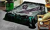 SOLARON Korean Super Thick Mink Blanket Twin Size 63' x 87' Green Eagle BM118