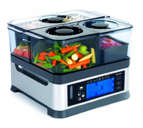 Viante CUC-30ST Intellisteam Counter Top Food Steamer with 3...
