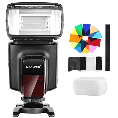 Neewer TT560 Flash Speedlite - Kit de 12 filtros de Color y difusor Duro para cámaras Canon Nikon, Panasonic, Olympus Pentax y Otras cámaras DSLR