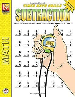 Timed Math Drills: Subtraction | Reproducible Activity Book