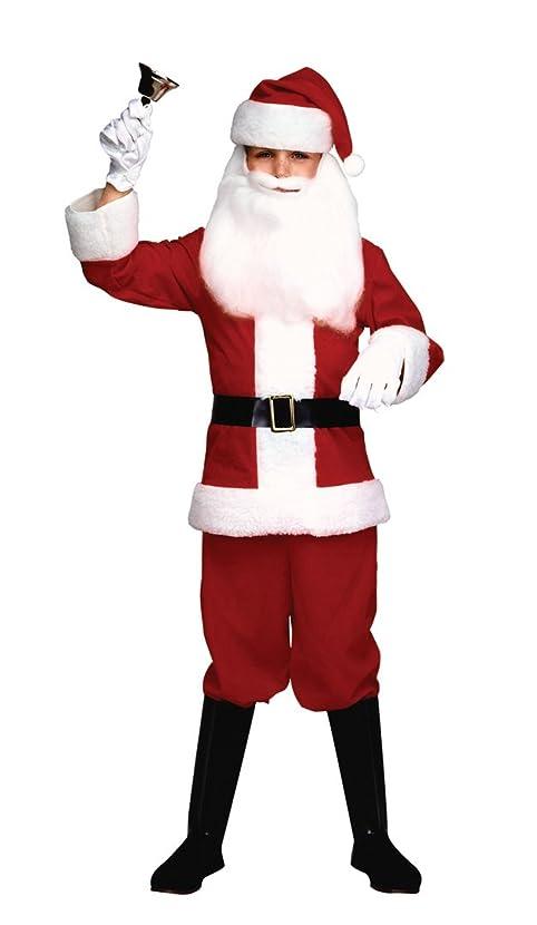 Kids Boys Red White Christmas Santa Clause Costume
