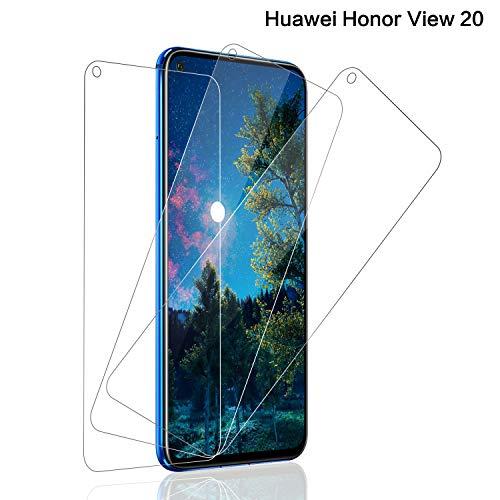 Panzerglas Schutzfolie für Huawei Honor View 20, [3 stück] Honor View 20 Panzerglasfolie mit 9H Festigkeit, Anti-Kratzer Schutzglas, 3D Touch, Bläschenfrei Transparent, Honor View 20 Bildschirmschutzfolie