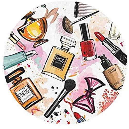 Girly cosmetica parfums lippenstift nagellak borstel ronde non-slip laptop muismat muismatten/muismatten case cover voor vrouw man