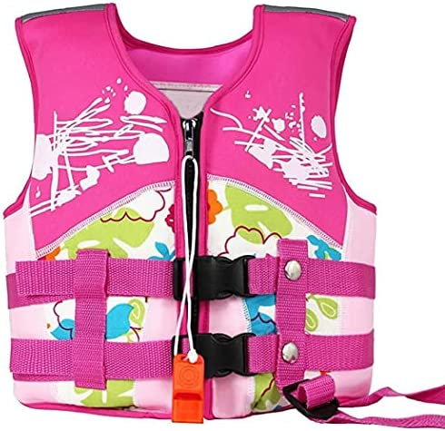 Float maillot de bain B 233;b 233;s gar 231;ons filles Maillots de bain flottant aide224; la formation de natation Gilet Maillot de bain Maillot Gilet confortable pour gar 231;onsfilles Rose Taille S