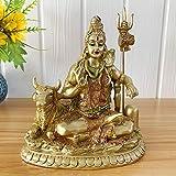 BangBangDa Hindu Lord Shiva Nandi Statue - Indian Diwali Gifts God Idol - India Ganpati Murti Pooja Item