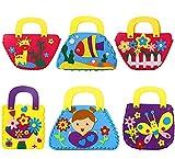 Richaa Kit da Cucito per Bambini,6 Pezzi Craft Felt Kits for Kids Principianti Borsa Fai-da-Te per i corsi di Arte per Bambini Regali per Ragazze