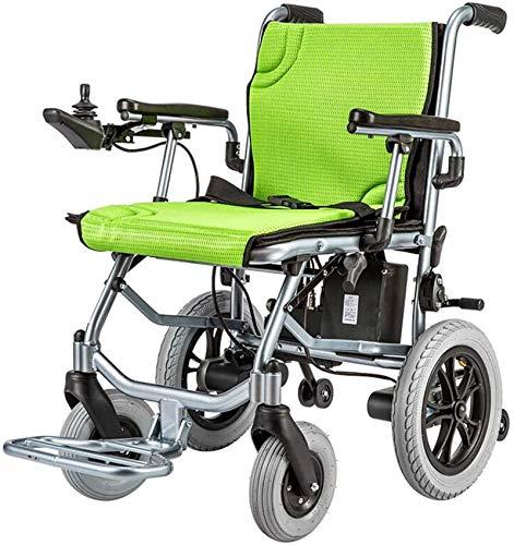 Silla de Ruedas eléctrica Plegable, Doblar plegable compacto de potencia ayuda a la movilidad for sillas de ruedas, ligero plegable Llevar Silla de ruedas eléctrica, silla de ruedas motorizada, Asient