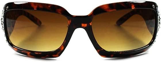 Bling Star Cowgirl Gorgeous Rhinestone Hot Womens Oversized Wrap Sunglasses