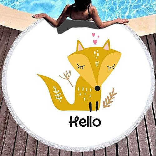 Nazi Mie Strandtuch niedlich Sommer Mädchen Baby Little Fox Blumen Kindergarten Urlaub kann verwendet Werden Wandkunst Grußkarte Stranddecke