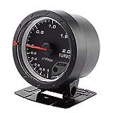 Compteur Pression Turbo Jauge de Pression Turbo de 60mm LED Coquille de Poussée Universel pour Voiture 0-200 Kpa
