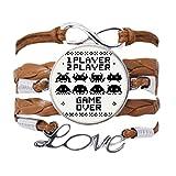 DIYthinker Players Game Over Little Monster Pixel Pulsera de cadena de amor, adorno de cuerda para...