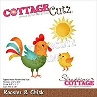 """CottageCutz Dies-Rooster & Chick .9"""" To 2.7"""""""