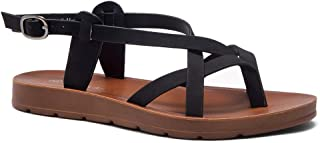 Smooth Move Women's Open Toes Gladiator Sandals Ankle Strap Thong Shoes