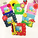Parteet Wooden Animal Design Photo Frame - Pack of 6Pc for Birthday Party