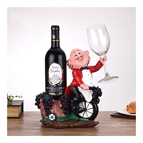 HJXSXHZ366 Estante de vino montado en la pared de resina creativa para vino, decoración decorativa del hogar, estante de vino pequeño rojo (color: negro)