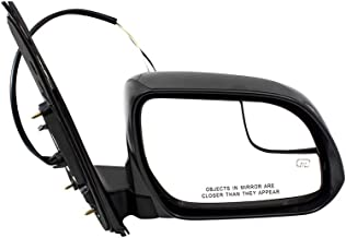 BROCK Passengers Power Side View Mirror Heated Spotter Glass Right Replacement for 15-18 Toyota Sienna Van 8791008150 TO1321339