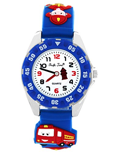 Pacific Time Jungen Uhr Analog Quarz mit Silikonarmband 214471