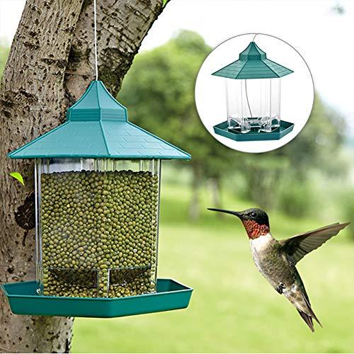 YFMXO Mangeoire Oiseau, Mangeoires à Oiseaux Suspendus Etanches Mangeoires à Graines Mangeoire Sauvage pour Jardin et Ecureuil