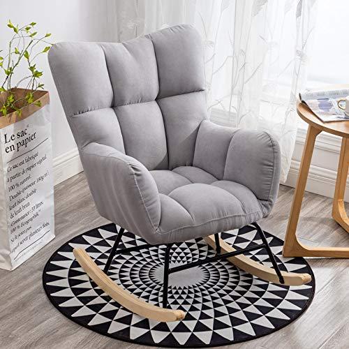 Mecedora de Salón Silla de Relax Sillón Mecedora de Madera para Salón Oficina Terraza Carga 150kg, Sillón Lazy/D
