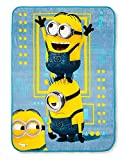 Despicable Me 3 Minions Blue & Yellow Throw Blanket (46'x60')