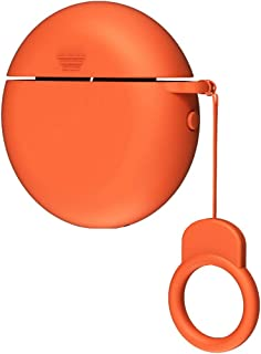 FJ Case Compatible with Huawei Freebuds 3 (2019), Wireless Charging Case Silicone Protective Skin Cover (Orange)
